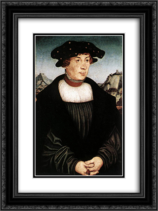 Hans Melber 18x24 Black or Gold Ornate Framed and Double Matted Art Print by Lucas Cranach the Elder