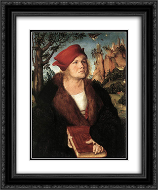 Portrait of Dr. Johannes Cuspinian 20x24 Black or Gold Ornate Framed and Double Matted Art Print by Lucas Cranach the Elder