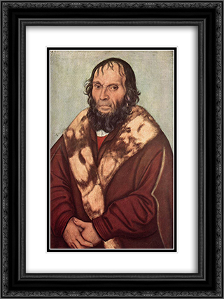 Portrait of Dr. J. Scheyring 18x24 Black or Gold Ornate Framed and Double Matted Art Print by Lucas Cranach the Elder