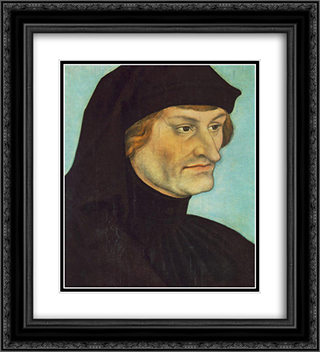 Portrait of Johannes Geiler von Kaysersberg 20x22 Black or Gold Ornate Framed and Double Matted Art Print by Lucas Cranach the Elder