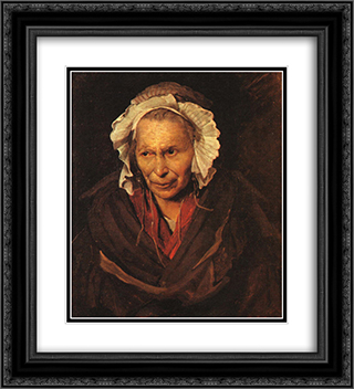 Madwoman 20x22 Black or Gold Ornate Framed and Double Matted Art Print by Theodore Gericault