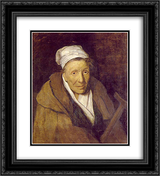 Woman with Gambling Mania 20x22 Black or Gold Ornate Framed and Double Matted Art Print by Theodore Gericault