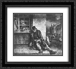 English Scenes ' Man on the Street 22x20 Black or Gold Ornate Framed and Double Matted Art Print by Theodore Gericault