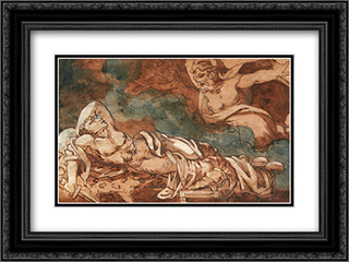 Le Songe D'enee 24x18 Black or Gold Ornate Framed and Double Matted Art Print by Theodore Gericault