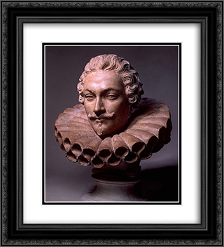 Portrait of Camillo Pamphili 20x22 Black or Gold Ornate Framed and Double Matted Art Print by Alessandro Algardi