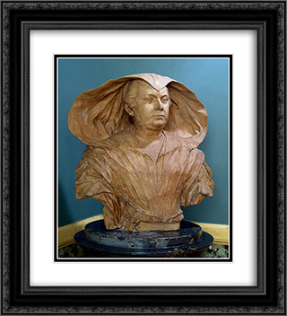 Portrait of Olimpia Pamphilj 20x22 Black or Gold Ornate Framed and Double Matted Art Print by Alessandro Algardi