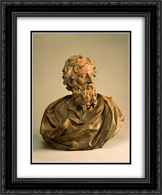 St Paul 20x24 Black or Gold Ornate Framed and Double Matted Art Print by Alessandro Algardi