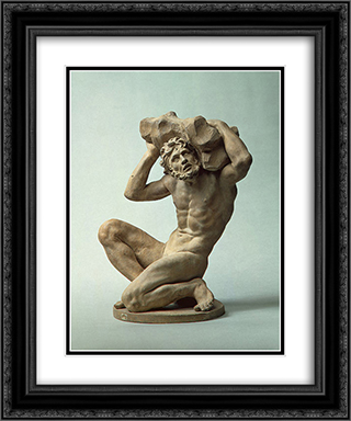 Titan 20x24 Black or Gold Ornate Framed and Double Matted Art Print by Alessandro Algardi