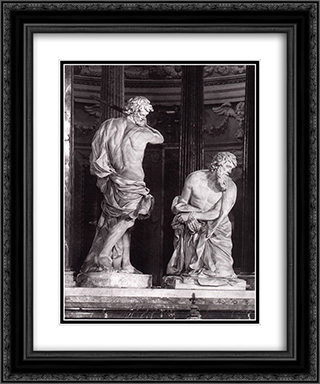 Beheading of St Paul 20x24 Black or Gold Ornate Framed and Double Matted Art Print by Alessandro Algardi