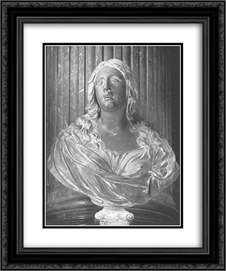 St Mary Magdalene 20x24 Black or Gold Ornate Framed and Double Matted Art Print by Alessandro Algardi