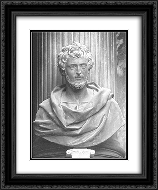 St John the Evangelist 20x24 Black or Gold Ornate Framed and Double Matted Art Print by Alessandro Algardi