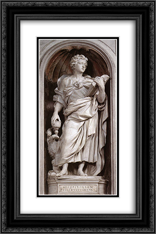 St John the Evangelist 16x24 Black or Gold Ornate Framed and Double Matted Art Print by Alessandro Algardi