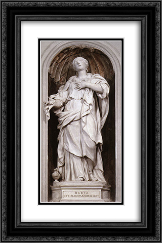 St Mary Magdalene 16x24 Black or Gold Ornate Framed and Double Matted Art Print by Alessandro Algardi
