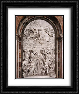 The Meeting of Leo I and Attila 20x24 Black or Gold Ornate Framed and Double Matted Art Print by Alessandro Algardi