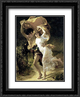 The Storm 20x24 Black or Gold Ornate Framed and Double Matted Art Print by Pierre Auguste Cot