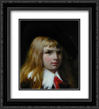 Little Lord Fauntelroy 20x22 Black or Gold Ornate Framed and Double Matted Art Print by Pierre Auguste Cot