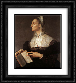 Laura Battiferri 20x22 Black or Gold Ornate Framed and Double Matted Art Print by Agnolo Bronzino