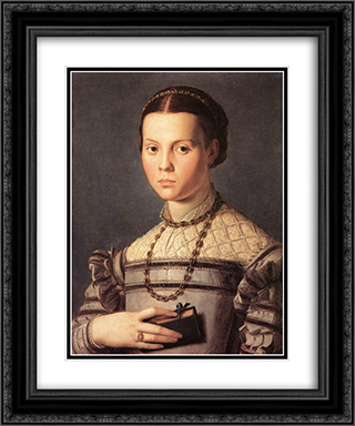 Portrait of a Young Girl 20x24 Black or Gold Ornate Framed and Double Matted Art Print by Agnolo Bronzino