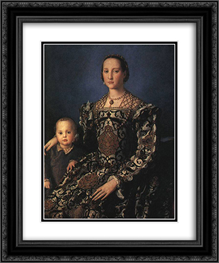 Eleonora of Toledo with her Son Giovanni de' Medici 20x24 Black or Gold Ornate Framed and Double Matted Art Print by Agnolo Bronzino