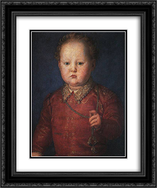 Don Garcia de' Medici 20x24 Black or Gold Ornate Framed and Double Matted Art Print by Agnolo Bronzino