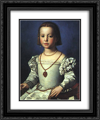 Bia, The Illegitimate Daughter of Cosimo I de' Medici 20x24 Black or Gold Ornate Framed and Double Matted Art Print by Agnolo Bronzino