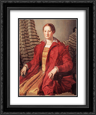Portrait of a Lady 20x24 Black or Gold Ornate Framed and Double Matted Art Print by Agnolo Bronzino