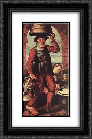 Market Scene 16x24 Black or Gold Ornate Framed and Double Matted Art Print by Pieter Aertsen
