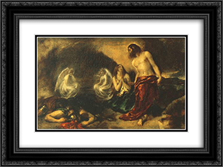 Christ Appearing to Mary Magdalene after the Resurrection 24x18 Black or Gold Ornate Framed and Double Matted Art Print by William Etty