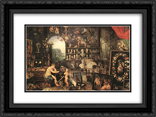 The Sense of Sight 24x18 Black or Gold Ornate Framed and Double Matted Art Print by Jan the Elder Brueghel