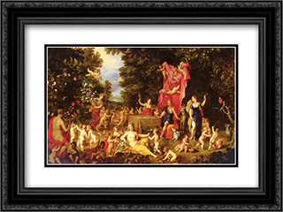 An Allegory Of The Five Senses 24x18 Black or Gold Ornate Framed and Double Matted Art Print by Jan the Elder Brueghel