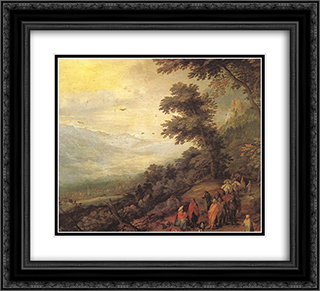Gathering of Gypsies in the Wood 22x20 Black or Gold Ornate Framed and Double Matted Art Print by Jan the Elder Brueghel