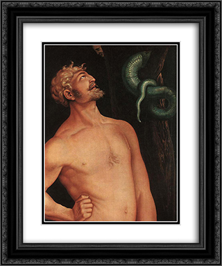Adam (detail) 20x24 Black or Gold Ornate Framed and Double Matted Art Print by Hans Baldung