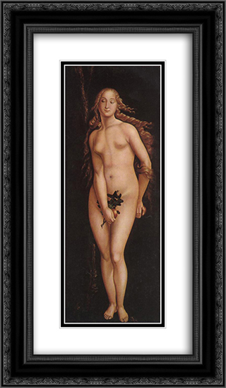 Eve 14x24 Black or Gold Ornate Framed and Double Matted Art Print by Hans Baldung