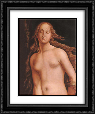 Eve (detail) 20x24 Black or Gold Ornate Framed and Double Matted Art Print by Hans Baldung