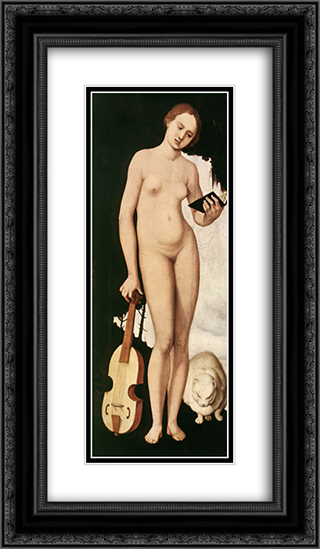 Music 14x24 Black or Gold Ornate Framed and Double Matted Art Print by Hans Baldung