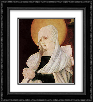 Mater Dolorosa (detail) 20x22 Black or Gold Ornate Framed and Double Matted Art Print by Hans Baldung