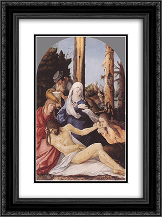 The Lamentation of Christ 18x24 Black or Gold Ornate Framed and Double Matted Art Print by Hans Baldung