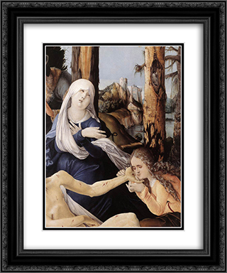 The Lamentation of Christ (detail) 20x24 Black or Gold Ornate Framed and Double Matted Art Print by Hans Baldung