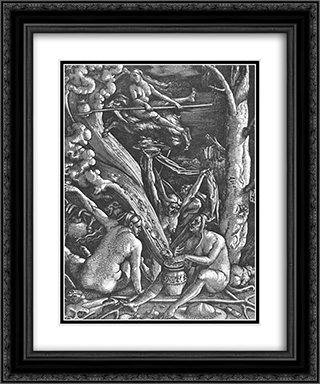 Witches Sabbath 20x24 Black or Gold Ornate Framed and Double Matted Art Print by Hans Baldung
