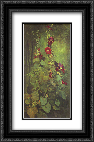 Agathon to Erosanthe, votive wreath 16x24 Black or Gold Ornate Framed and Double Matted Art Print by John LaFarge