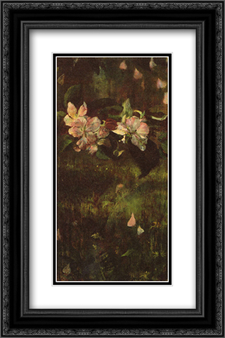 Apple Blossoms 16x24 Black or Gold Ornate Framed and Double Matted Art Print by John LaFarge