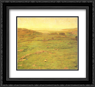 Paradise Valley 22x20 Black or Gold Ornate Framed and Double Matted Art Print by John LaFarge