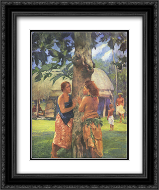 Portrait of Faase, the Taupo of the Fagaloa Bay, Samoa 20x24 Black or Gold Ornate Framed and Double Matted Art Print by John LaFarge