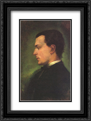 Portrait of Henry James, the novelist 18x24 Black or Gold Ornate Framed and Double Matted Art Print by John LaFarge