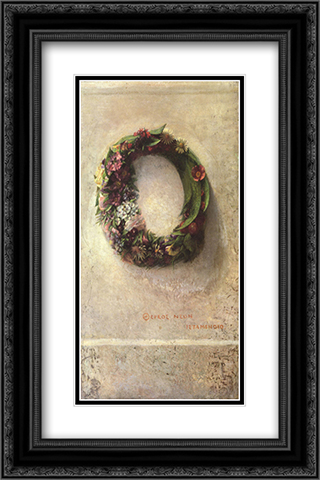 Wreath of Flowers 16x24 Black or Gold Ornate Framed and Double Matted Art Print by John LaFarge