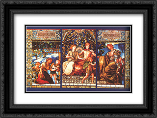 Hospitalitas Prosperitas 24x18 Black or Gold Ornate Framed and Double Matted Art Print by John LaFarge