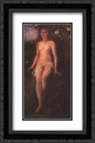 The Golden Age 16x24 Black or Gold Ornate Framed and Double Matted Art Print by John LaFarge