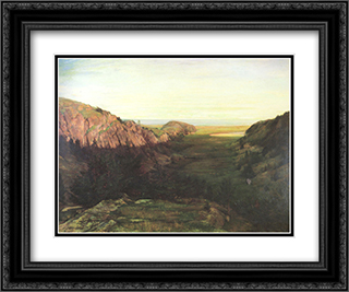 The Last Valley 24x20 Black or Gold Ornate Framed and Double Matted Art Print by John LaFarge