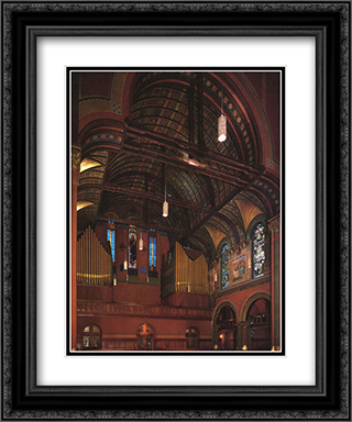 Trinity Church, Boston 20x24 Black or Gold Ornate Framed and Double Matted Art Print by John LaFarge