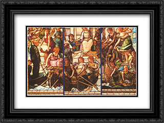The fruits of commerce 24x18 Black or Gold Ornate Framed and Double Matted Art Print by John LaFarge